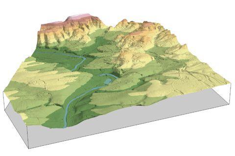 Bild: Blockbild Digitales Geländemodell