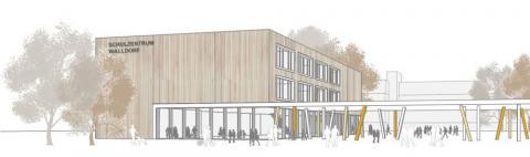 Neubau Mensa, Ganztagsbetreuung und Sporthalle, Schulzentrum Walldorf