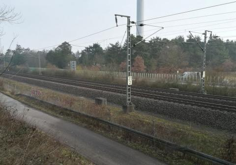 Bild Querung DB-Strecke 4080 Mannheim - Stuttgart und B36